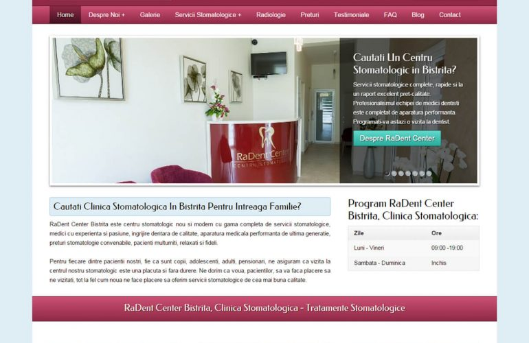 lansare site radent center bistrita